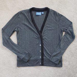 Simply Vera Wang Cardigan, grey with black S